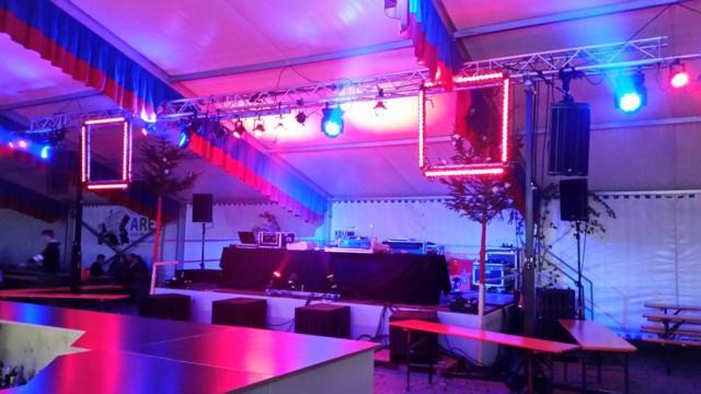 Lichttechnik mieten für Hochzeit Geburtstag Magic Events |